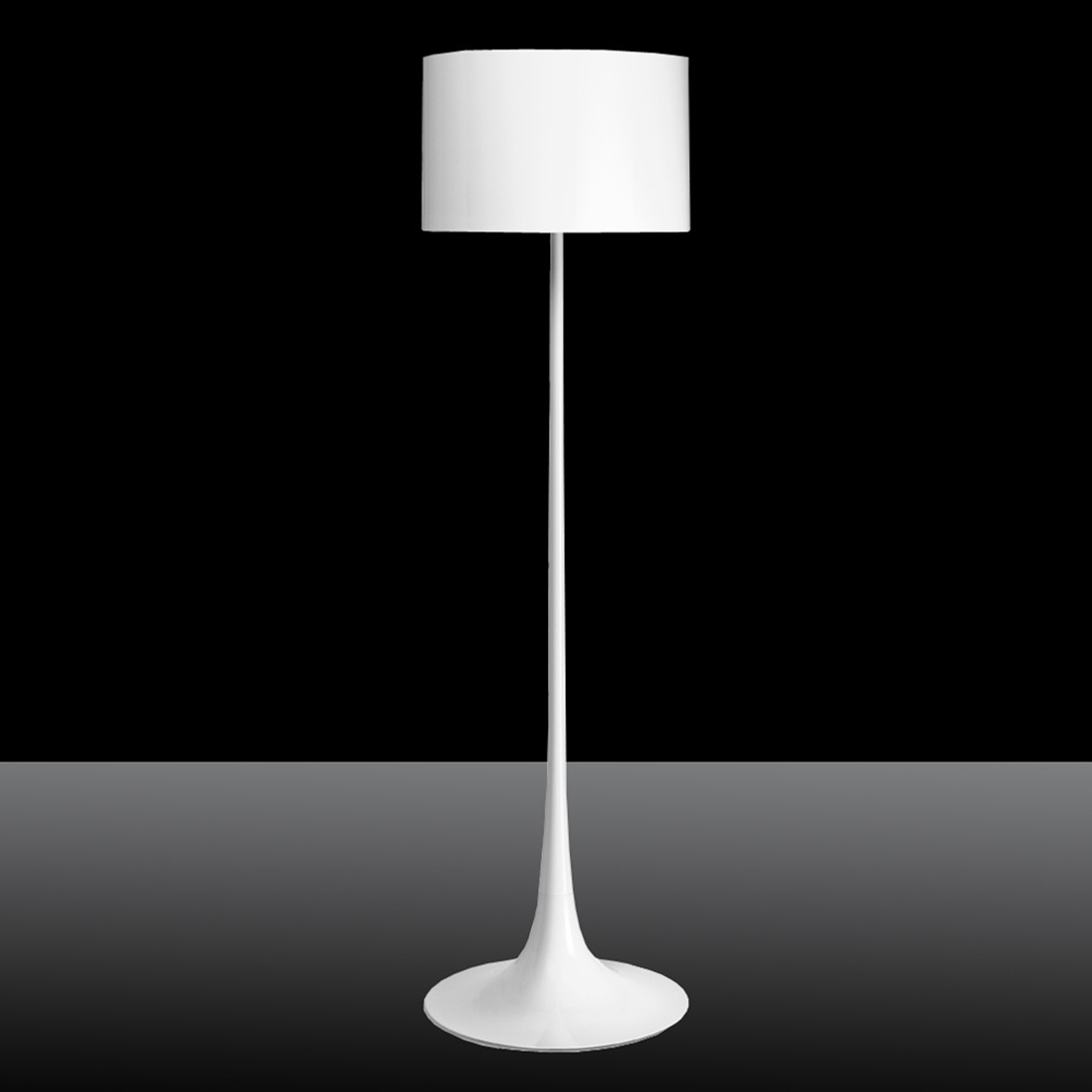 FLOS Spun Light F - bílá stojací lampa