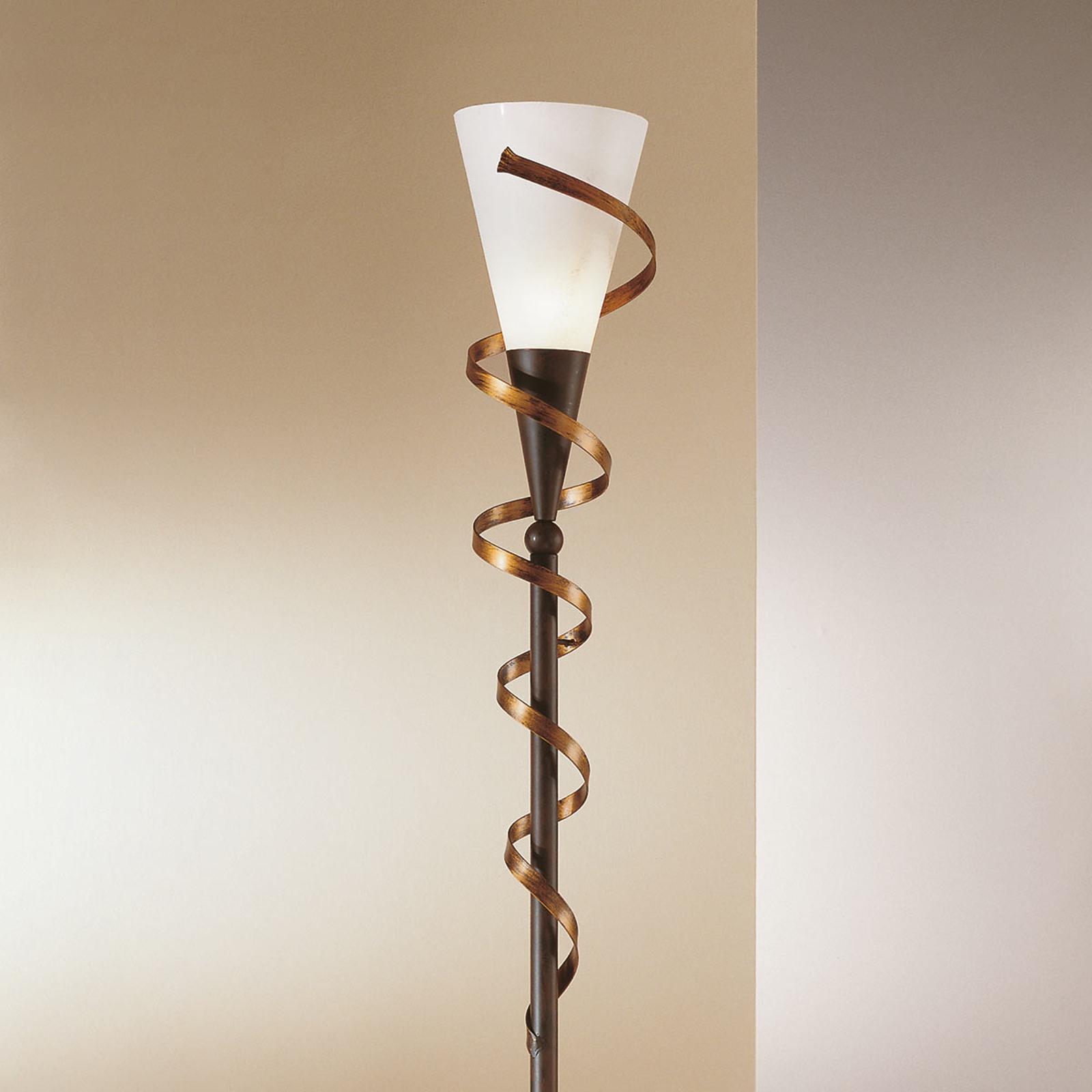 Lampadaire BONITO avec spirale dorée