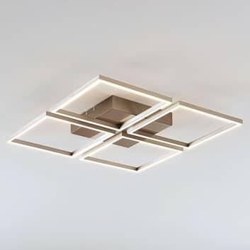LED-taklampa Quadra med 4 dimbara ljuskällor