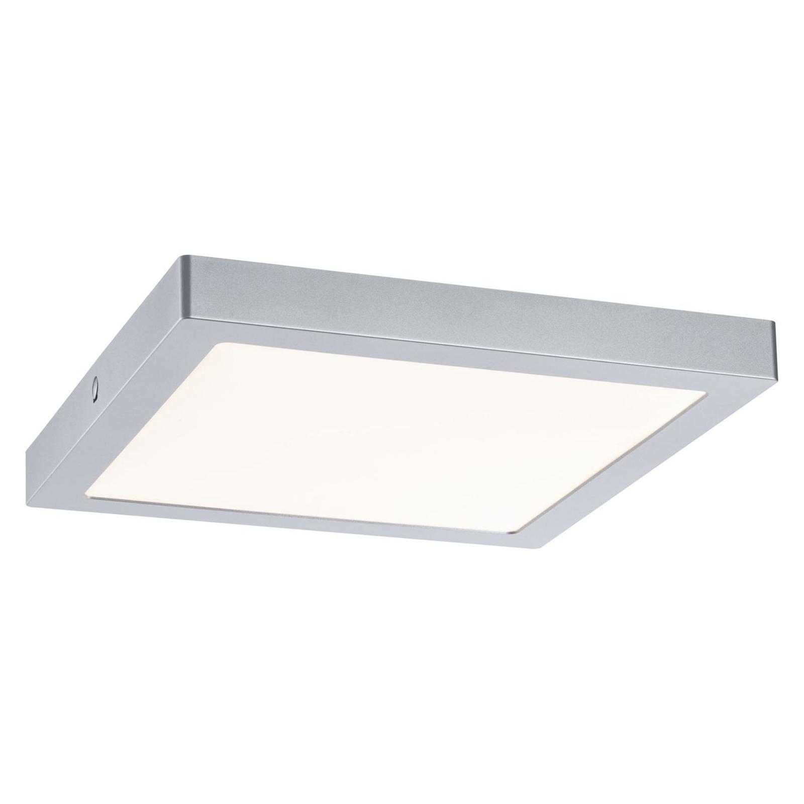 Paulmann Abia LED-taklampe 30x30 cm krom