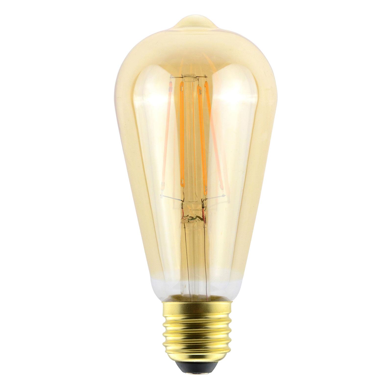 ToLEDo RT LED-pære E27 ST64 6W 825, guld, dæmpes