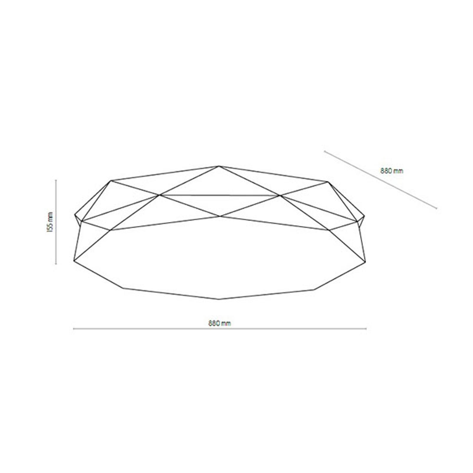 Lampa sufitowa Kantoor New, Ø 88cm, czarna