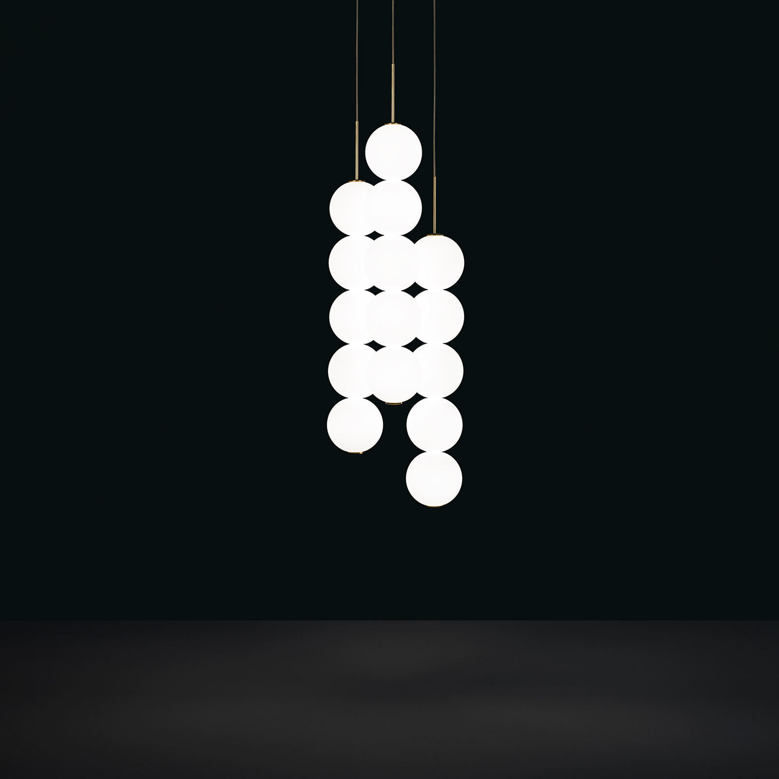 Terzani Abacus hanglamp, messing, 3x5 ballen