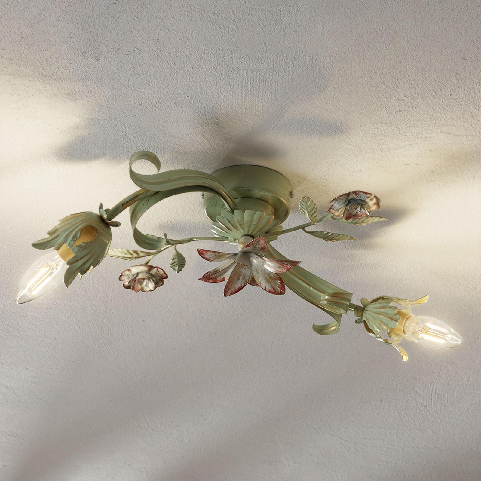 Filigranowa lampa sufit. Tulipe w stylu florenckim