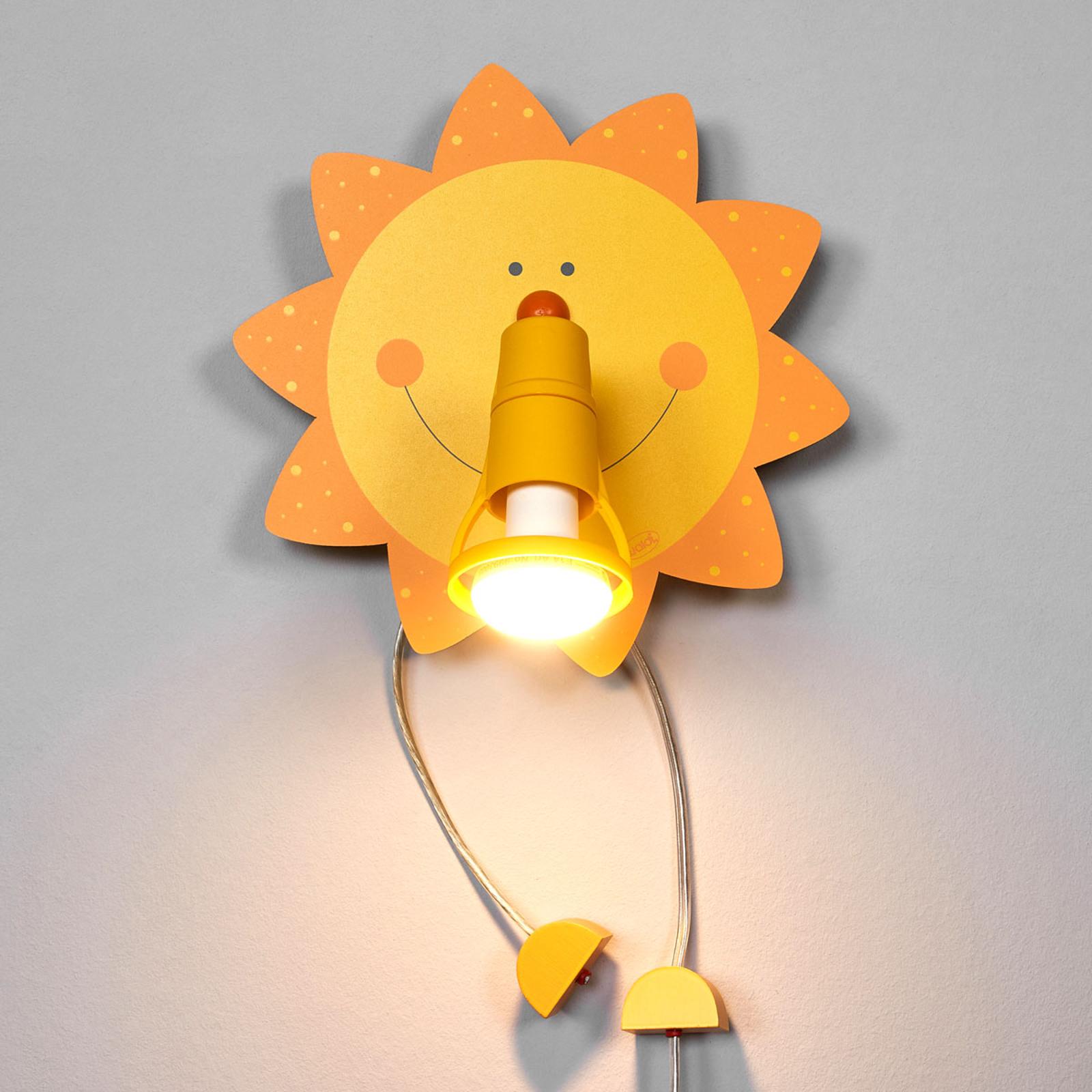 Grappige wandlamp SUNSHINE
