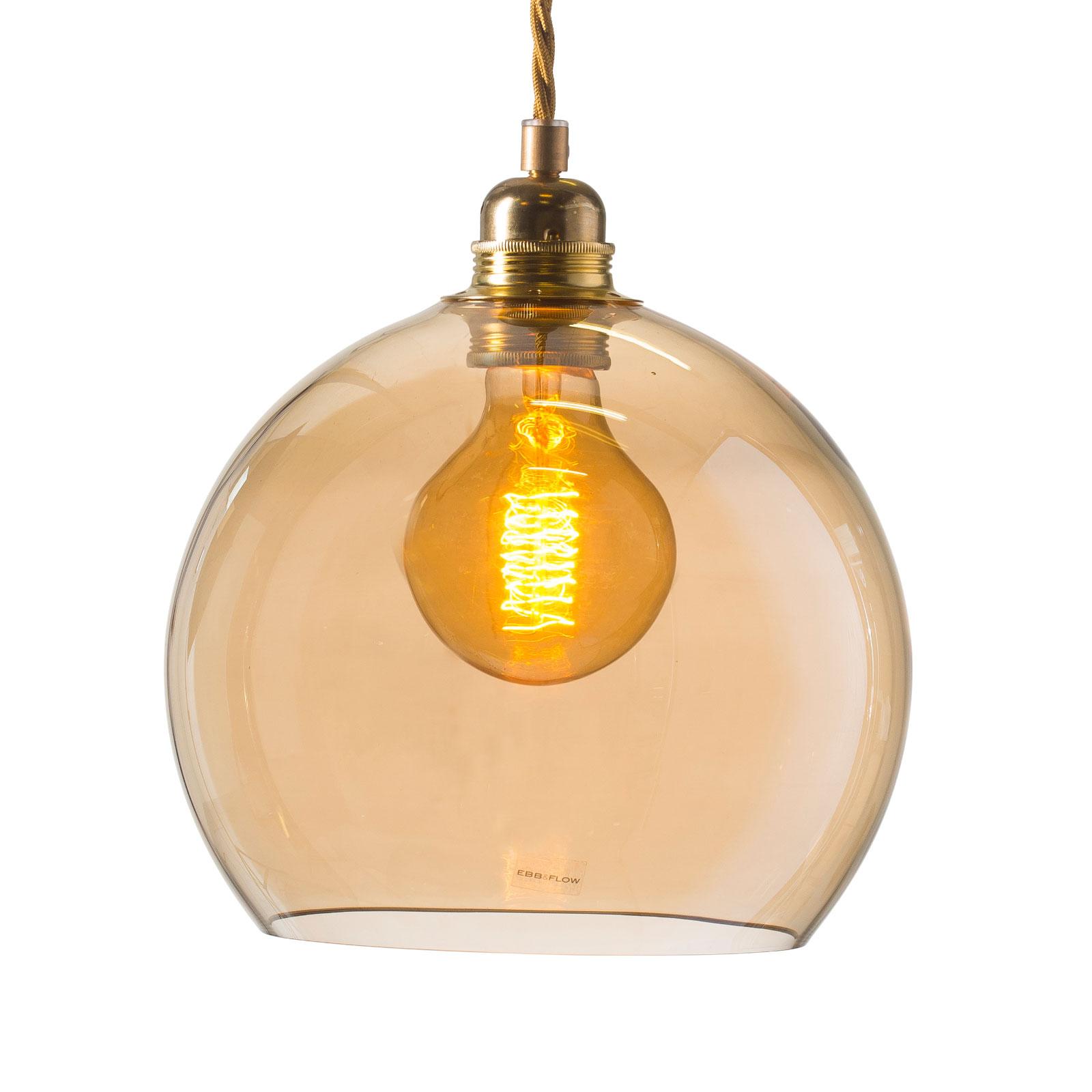 EBB & FLOW Rowan závěsné světlo zlatá/kouř Ø 22cm