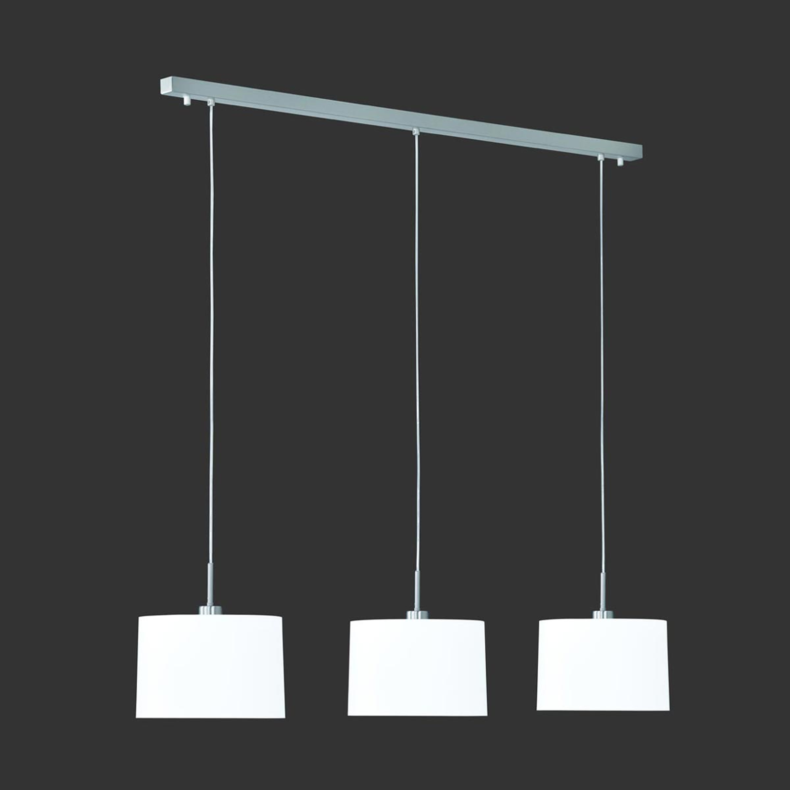 Suspension Loop à 3 lampes chintz blanc