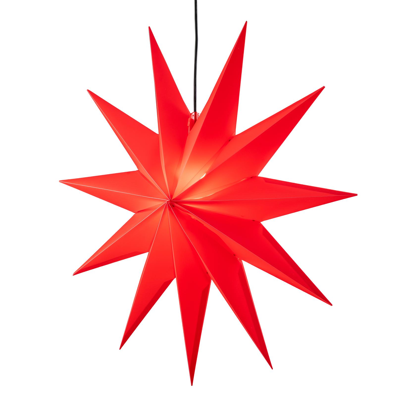 LED ster Jumbo, buiten, 11-punten, Ø 100 cm, rood