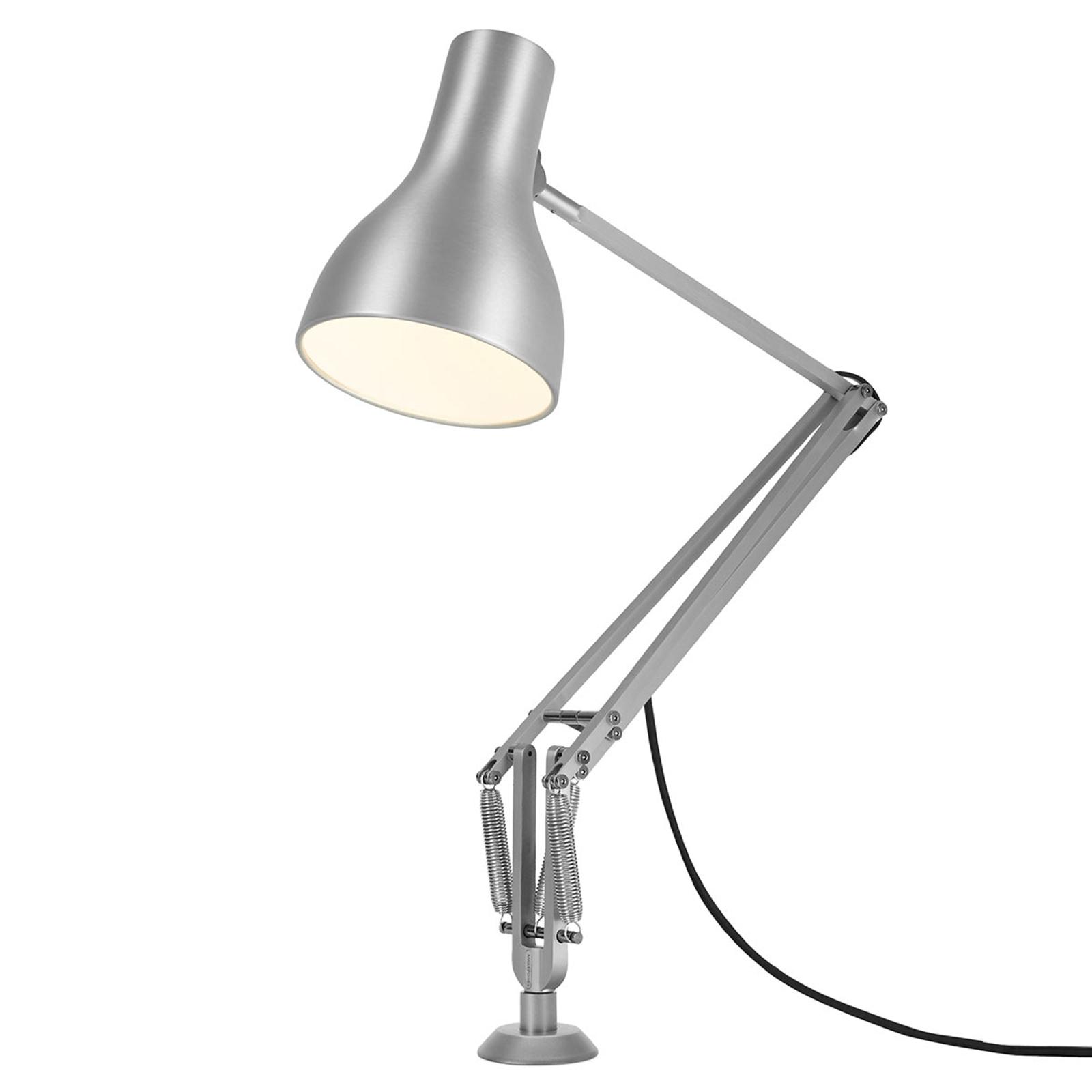 Anglepoise Type 75 Tischlampe Schraubfuß silber