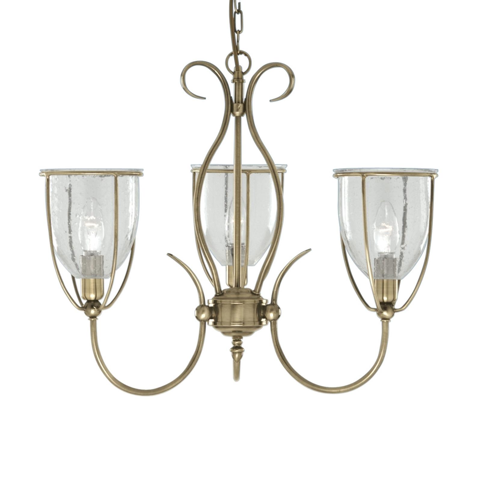 Suspension antique SILHOUETTE à 3 lampes