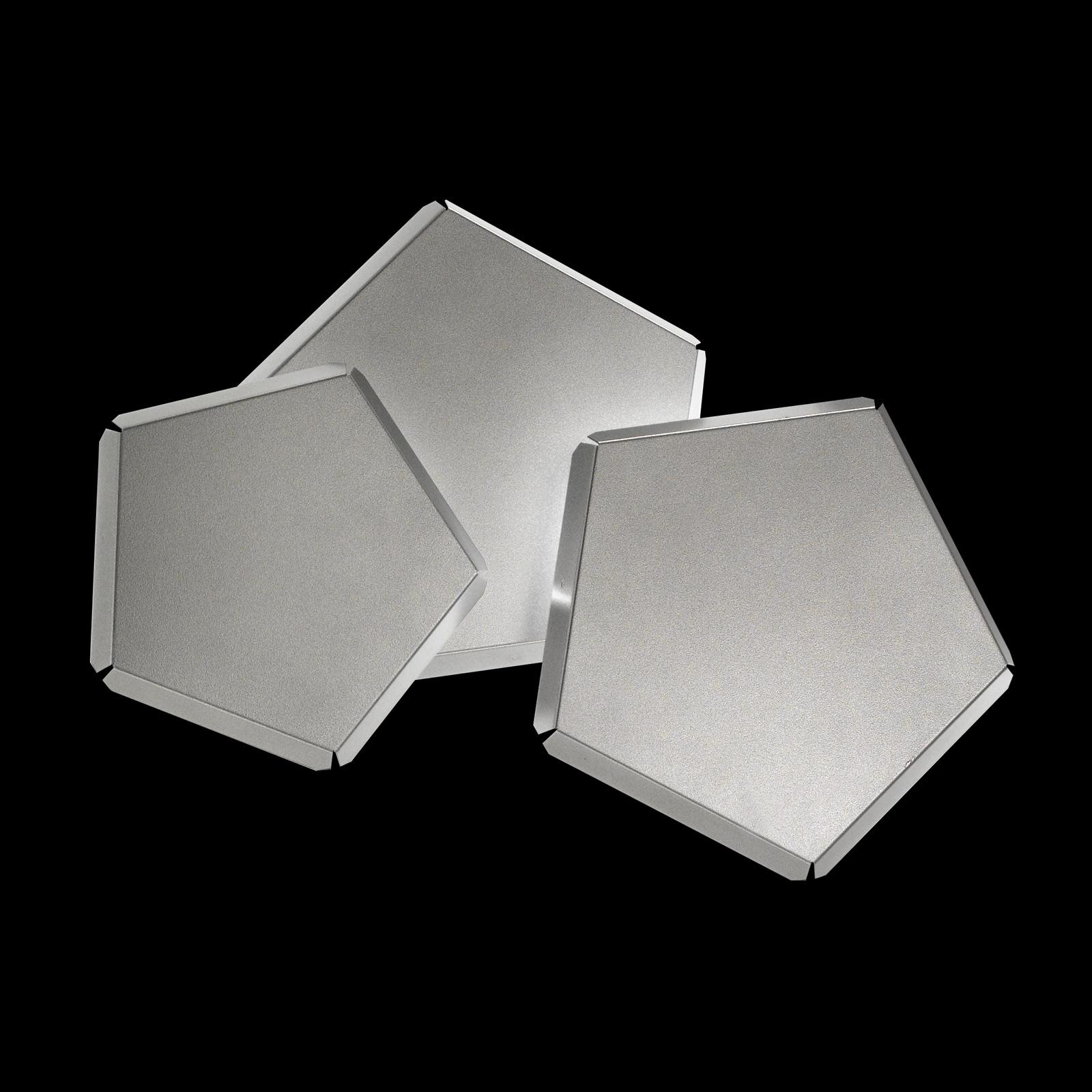 LED-Wandleuchte Pleiadi in Silber, dreiflammig
