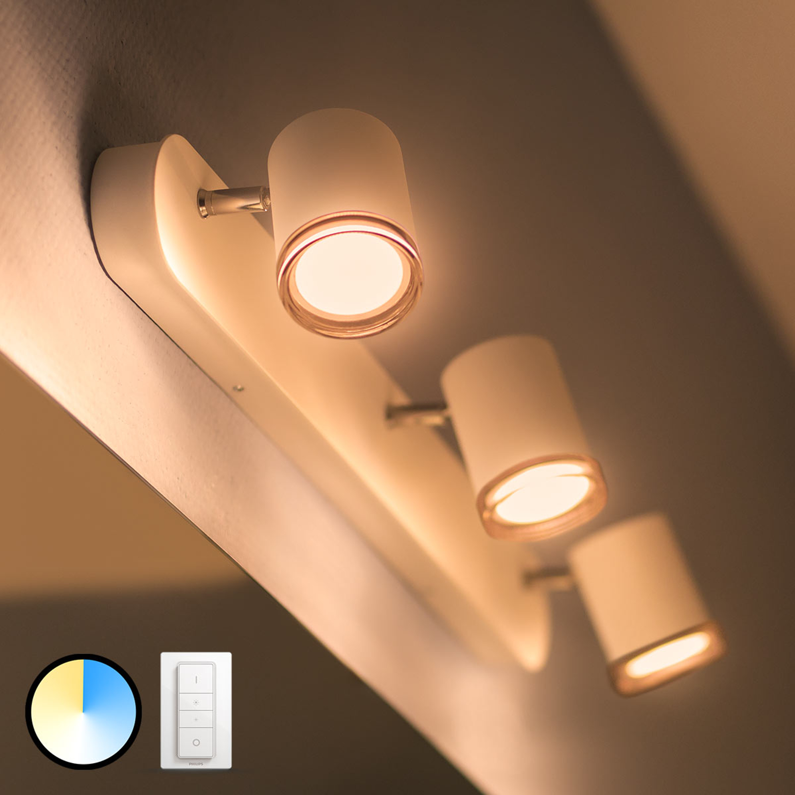 Philips Hue White Ambiance Adore LED-Spot 3-flg.