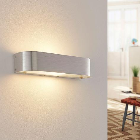 Nástěnná lampa Nika s LED E14, hliník