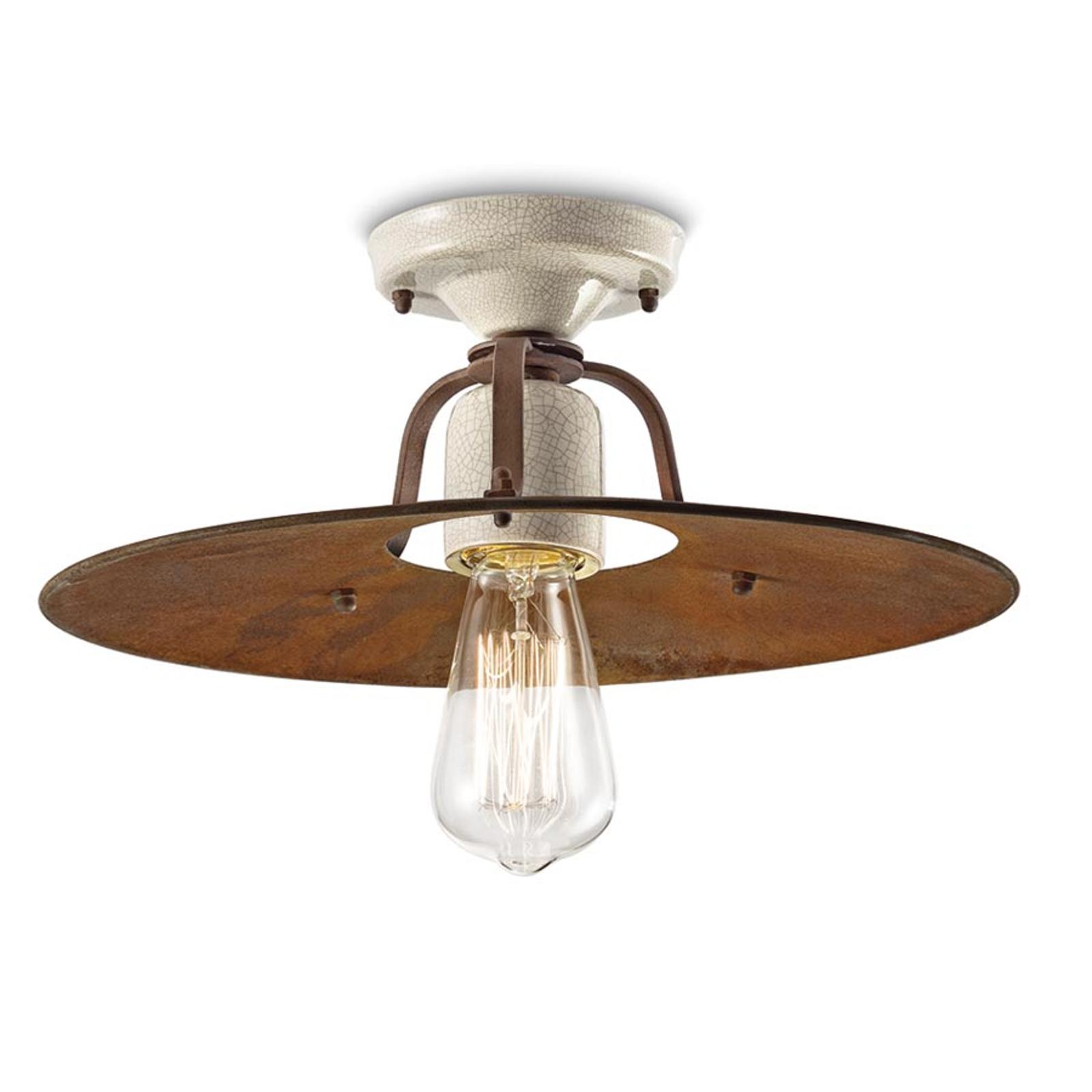 Lampa sufitowa Riccardo z metalowym kloszem, 40 cm