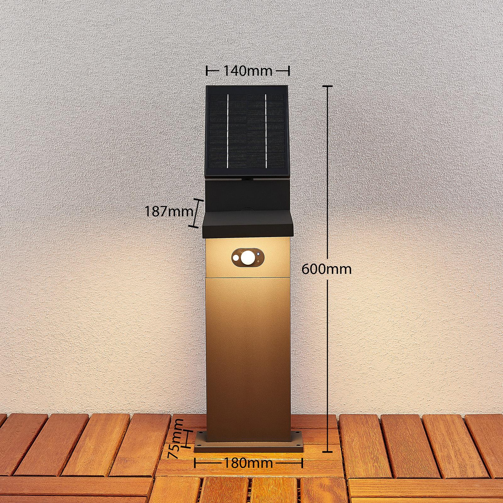 Aurinkokäyttöinen LED-pylväsvalaisin Silvan, 60 cm