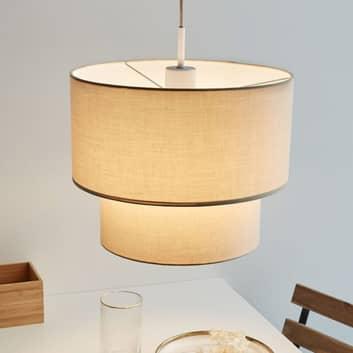 Pauleen Soft Shine hanglamp van beige stof