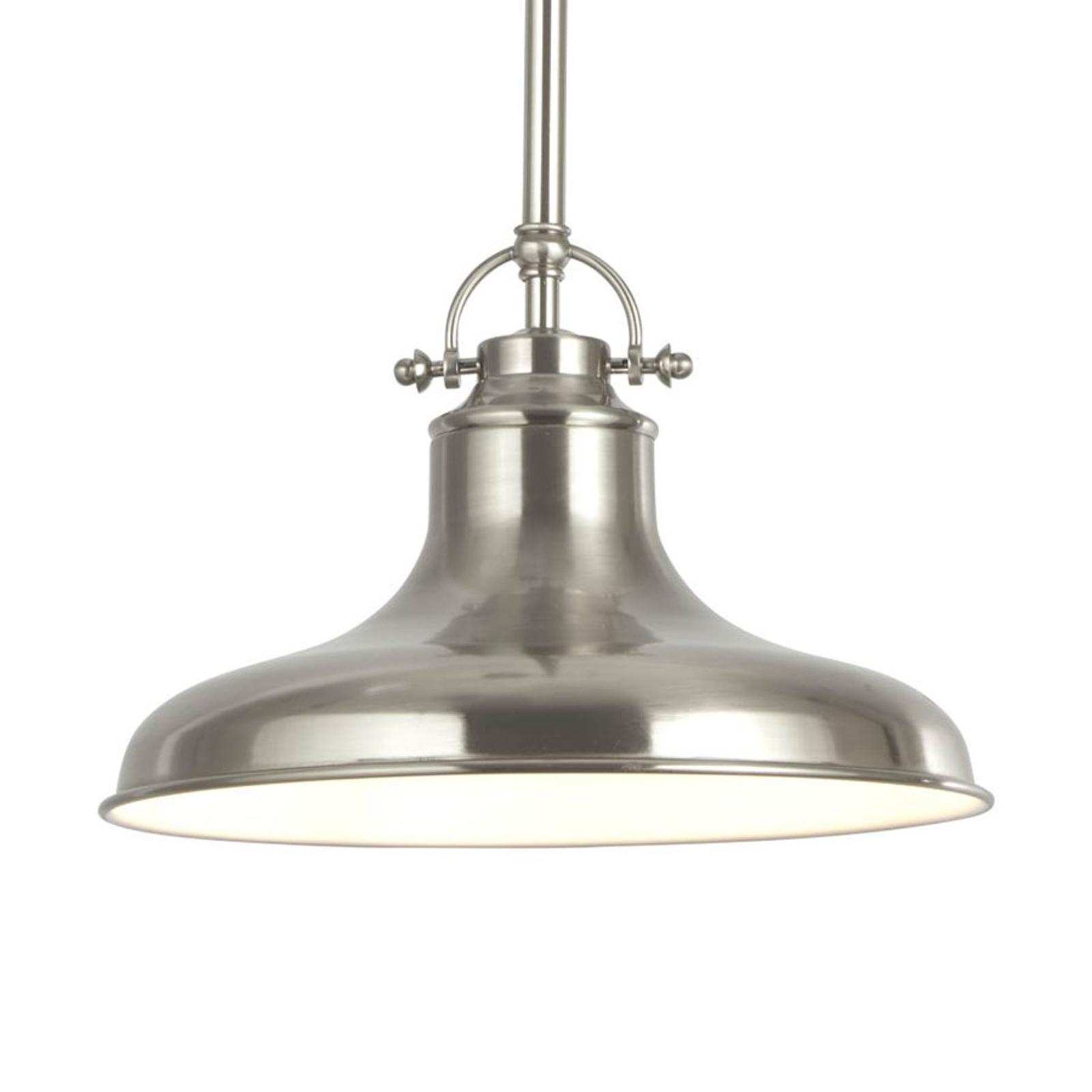 Lampa wisząca Dallas w stylu industrialnym srebrna