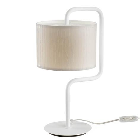 Stolní lampa Morfeo stínidlo krémový plast