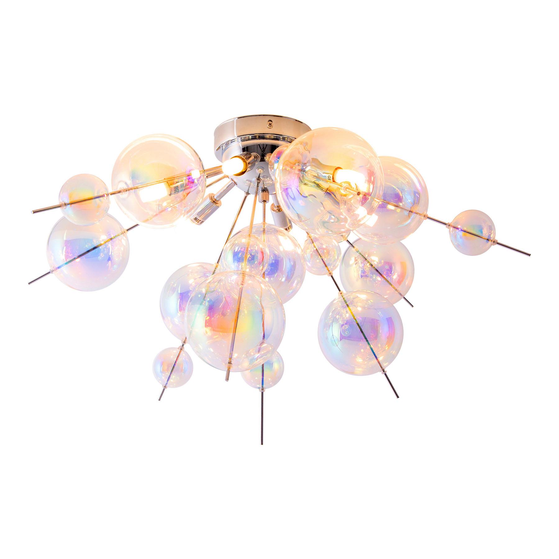 Plafonnier Explosion en verre, à 6 lampes