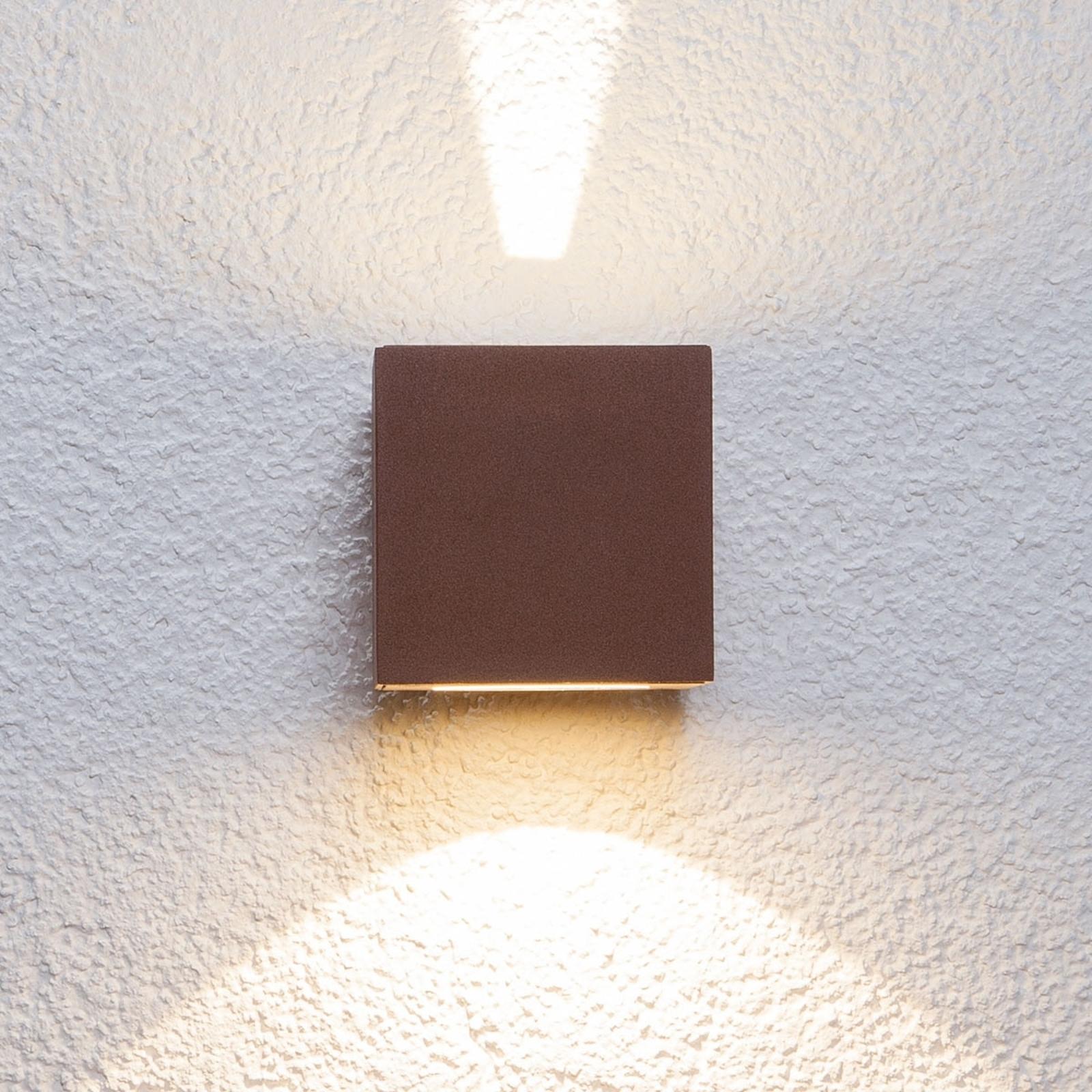 Rdzawo-brązowa lampa ścienna zewnętrzna LED Jarno