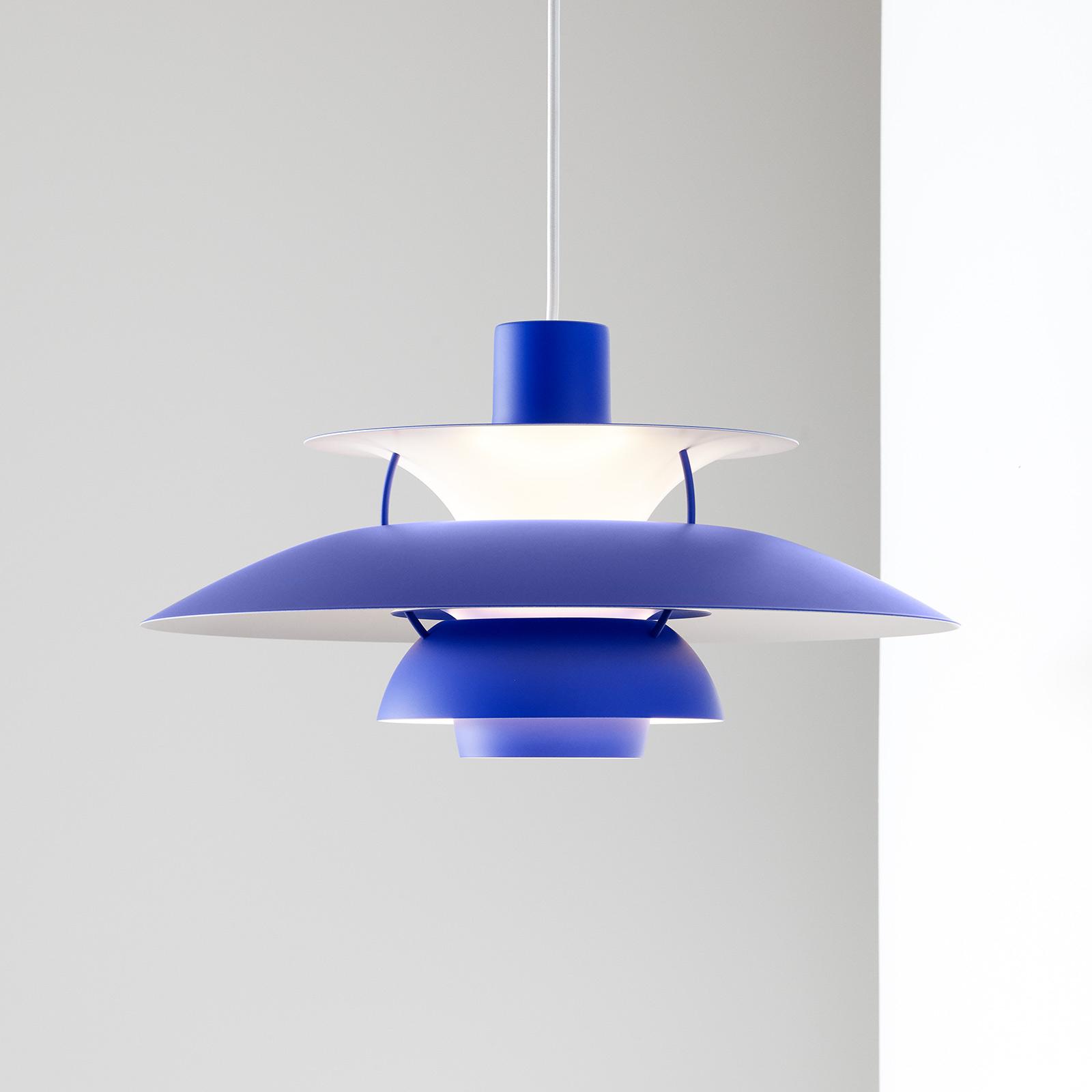 Louis Poulsen PH 5 hanglamp monochroom blauw