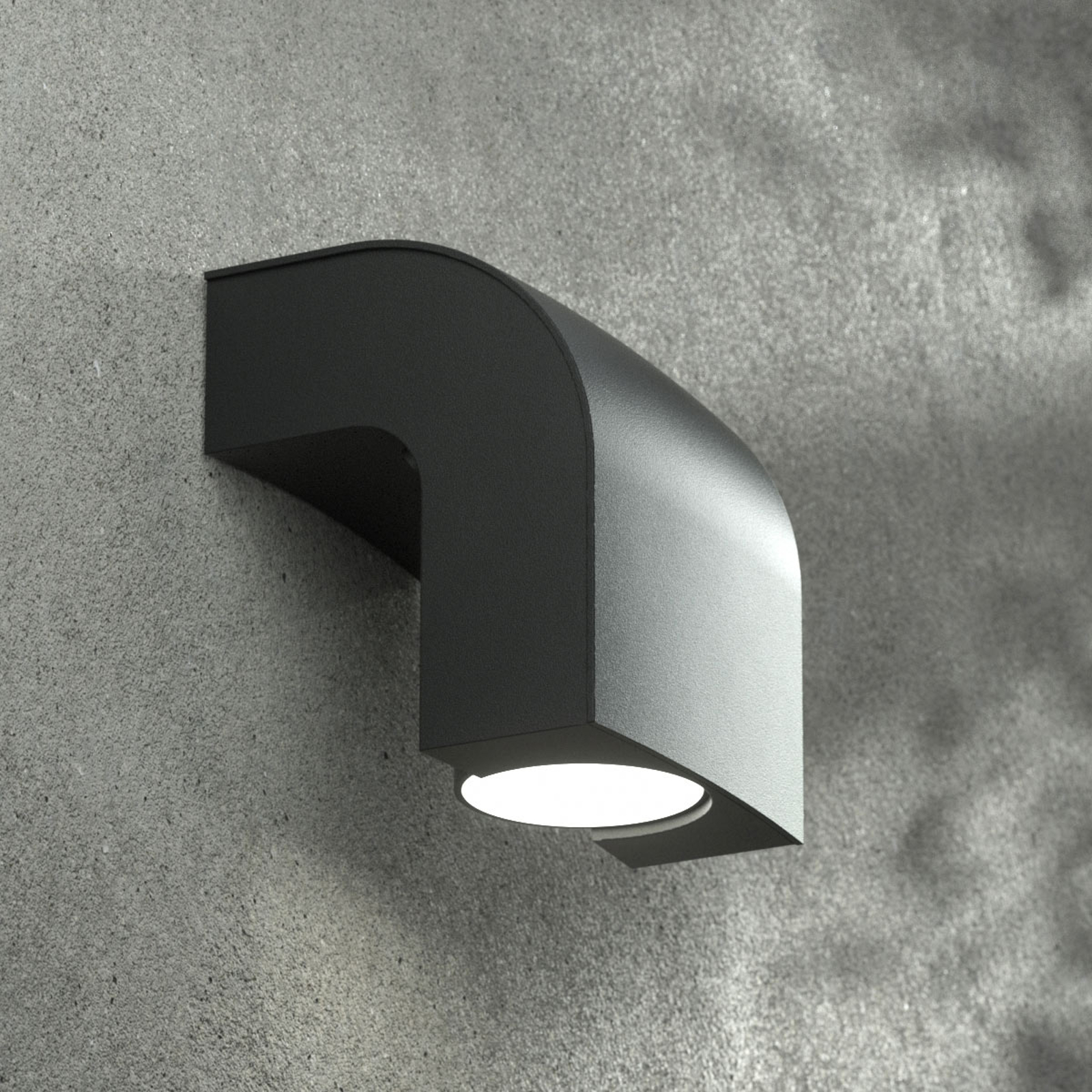 Kinkiet zewnętrzny KLAMP, 13 cm, 1-punktowy