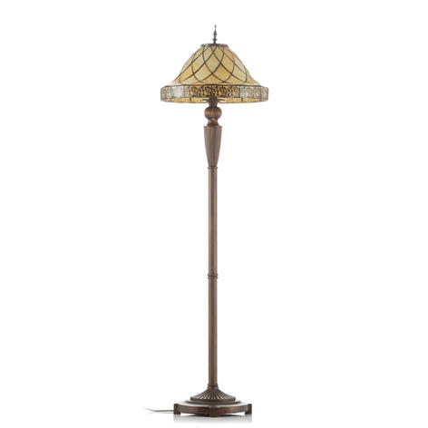 Lampa stojąca Diamond z kloszem Tiffany