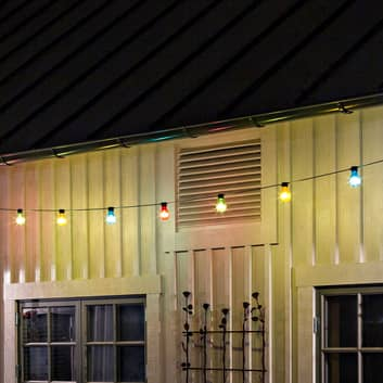 Lyskæde Biergarten 20 kulørte LED-pærer