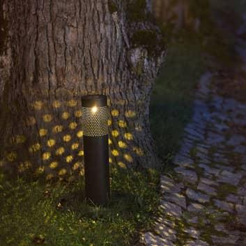 Lampe solaire LED Blace en noir, 39cm de haut