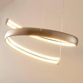 Risto - LED-pendellampe i nikkel