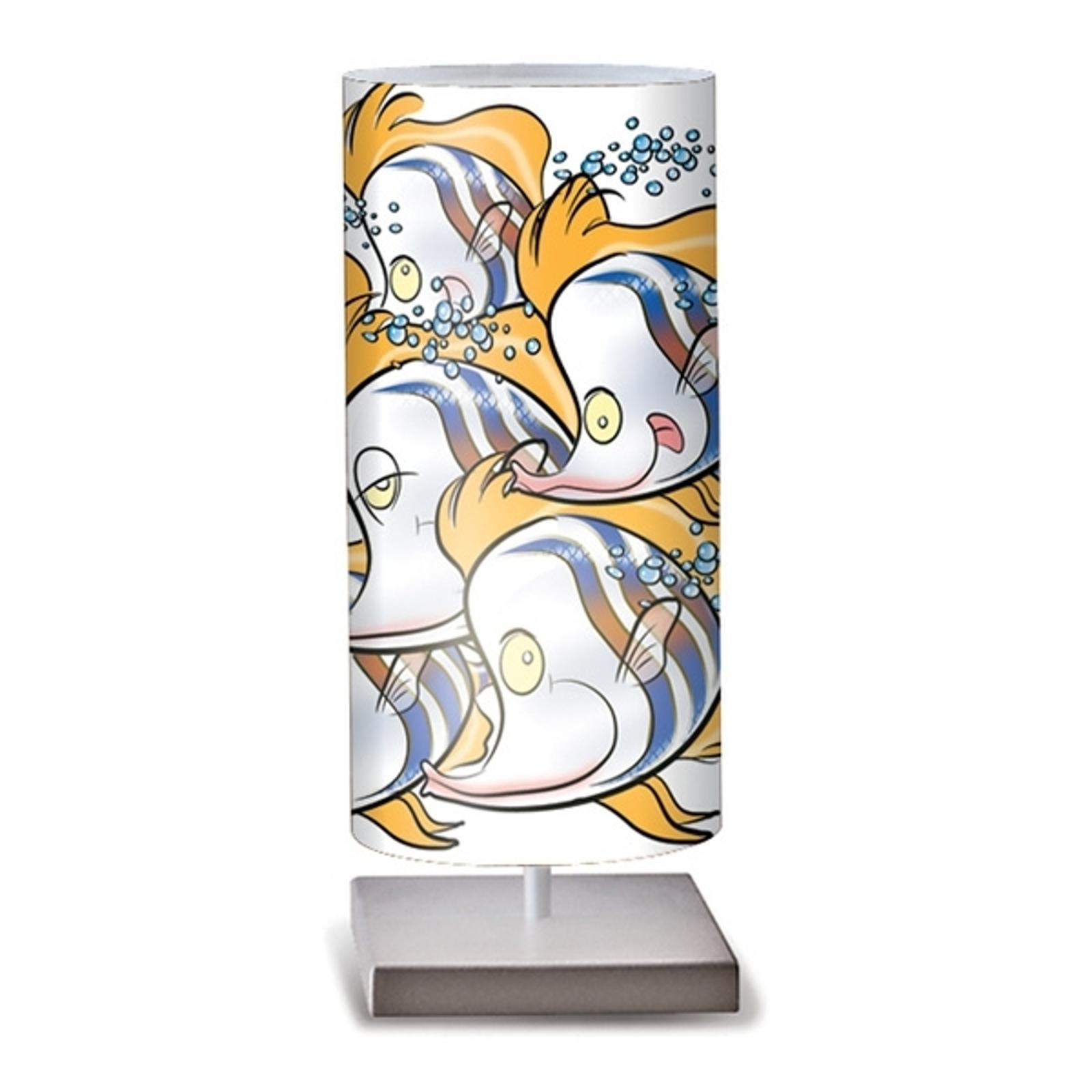 Bonita lámpara de mesa Pesci