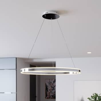 Suspension LED Lyani en chromé, dimmable, 80cm
