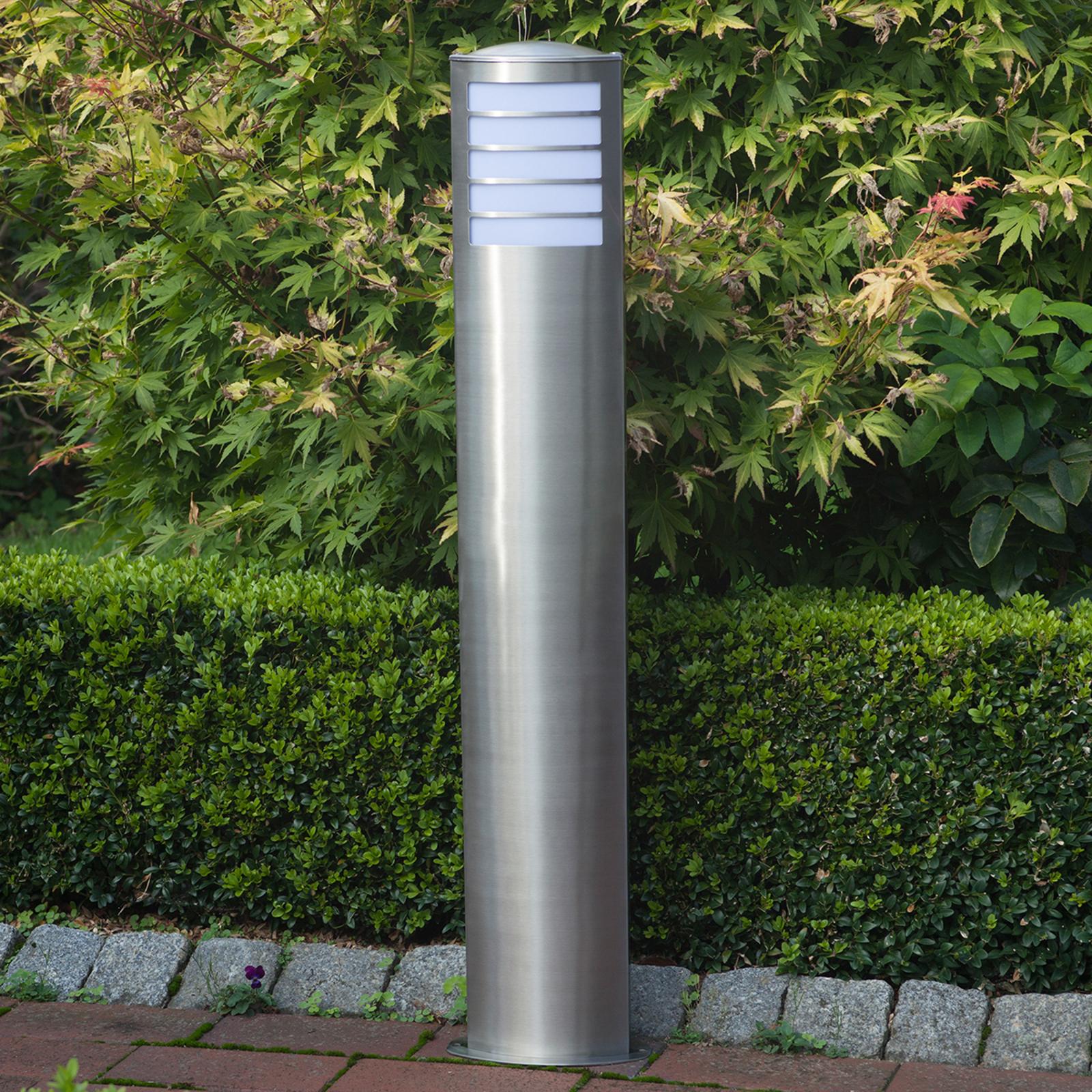 Rvs tuinpadverlichting Todd voor spaarlamp