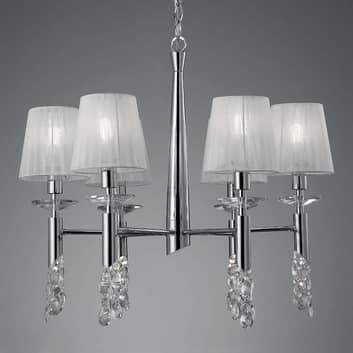 Lustre avec cristaux Lilja, à 6 lampes