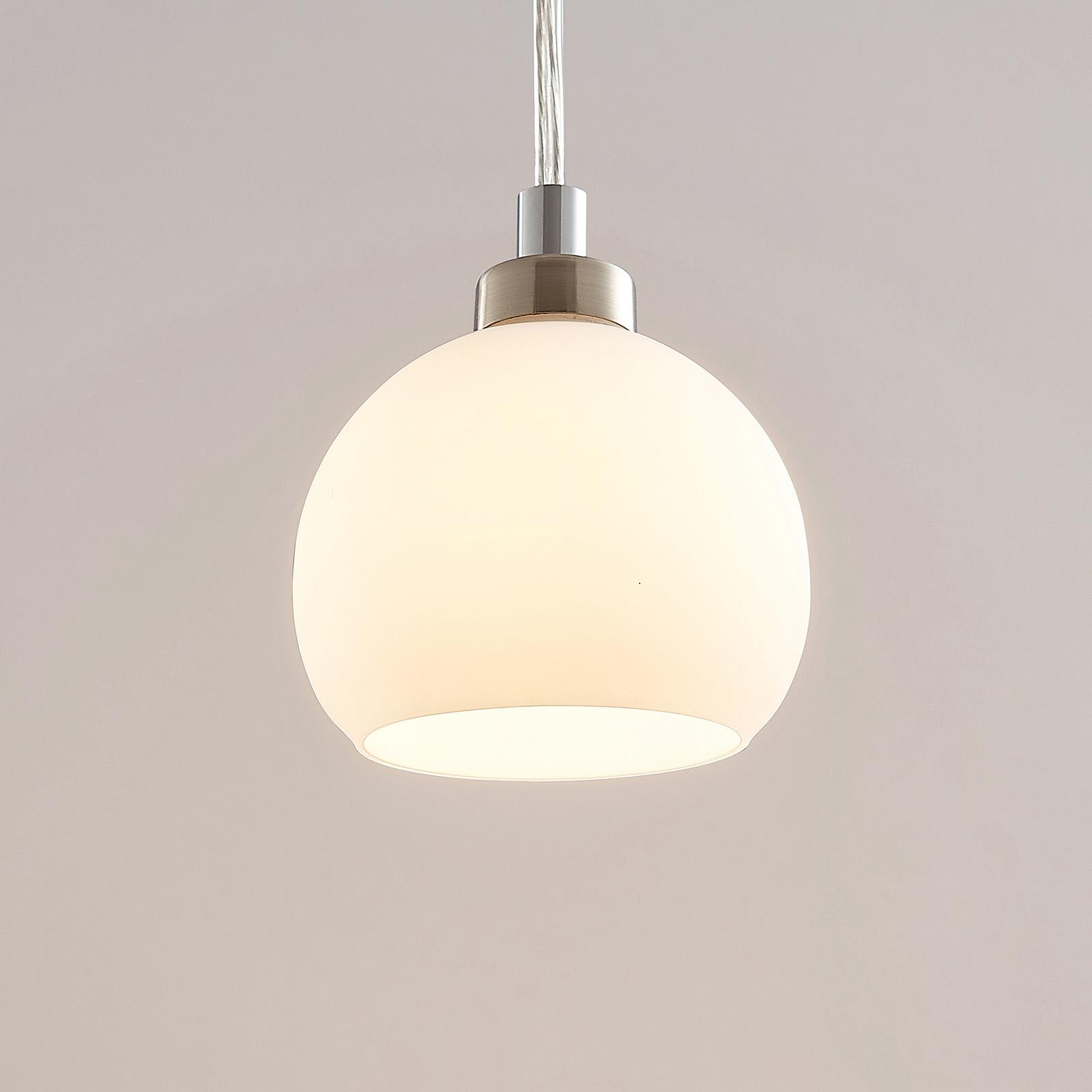 LED-pendellampe Kimi t. 1-faset skinne, nikkel