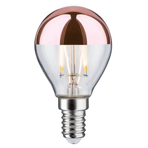Bombilla filamento LED E14 2,5 W 827, cobre