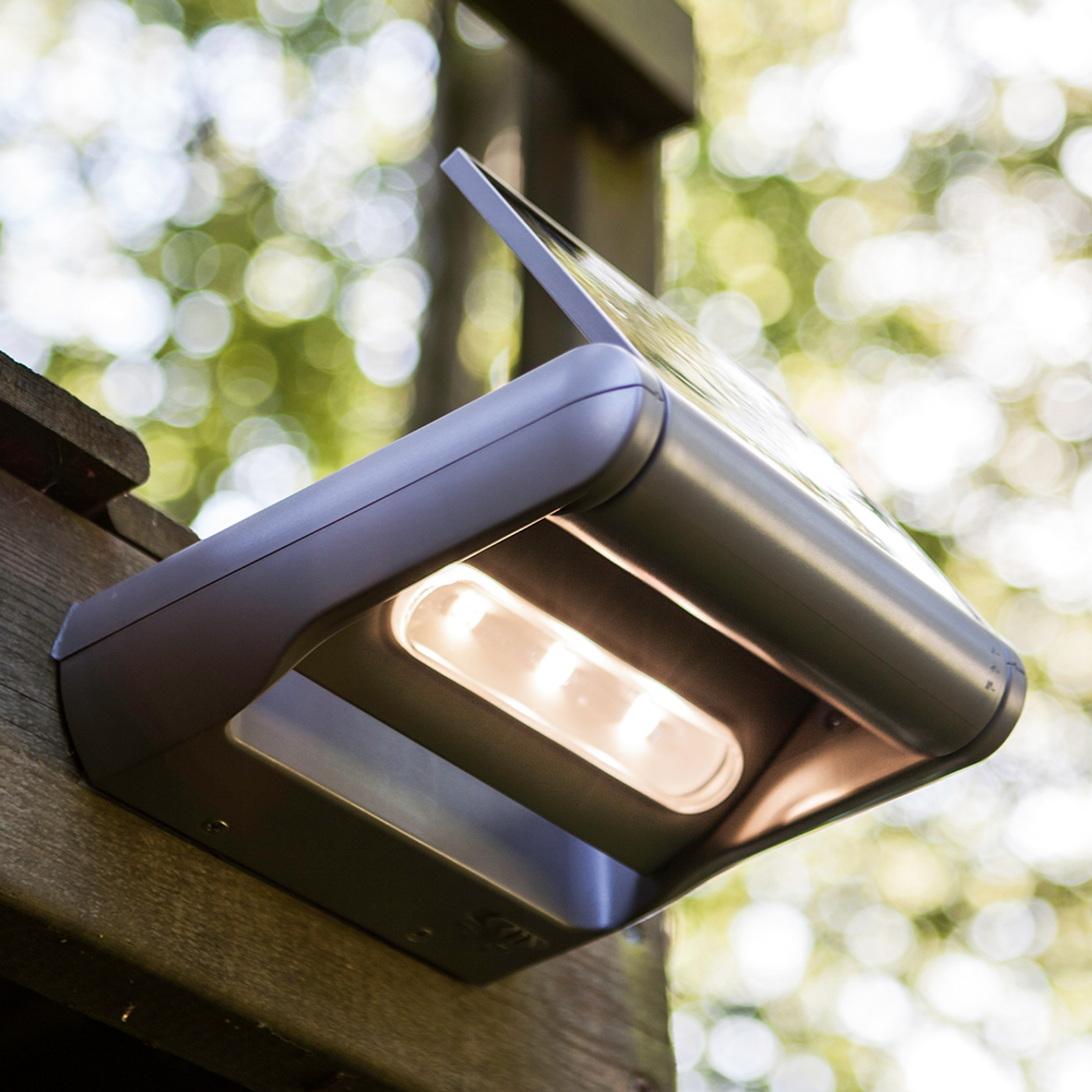 Dimbare LED-Solar-outdoor-wandlamp mini LEDSpot