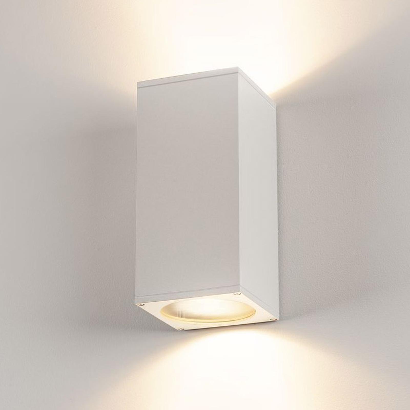 SLV Big Theo Außenwandlampe, 2fl, weiß