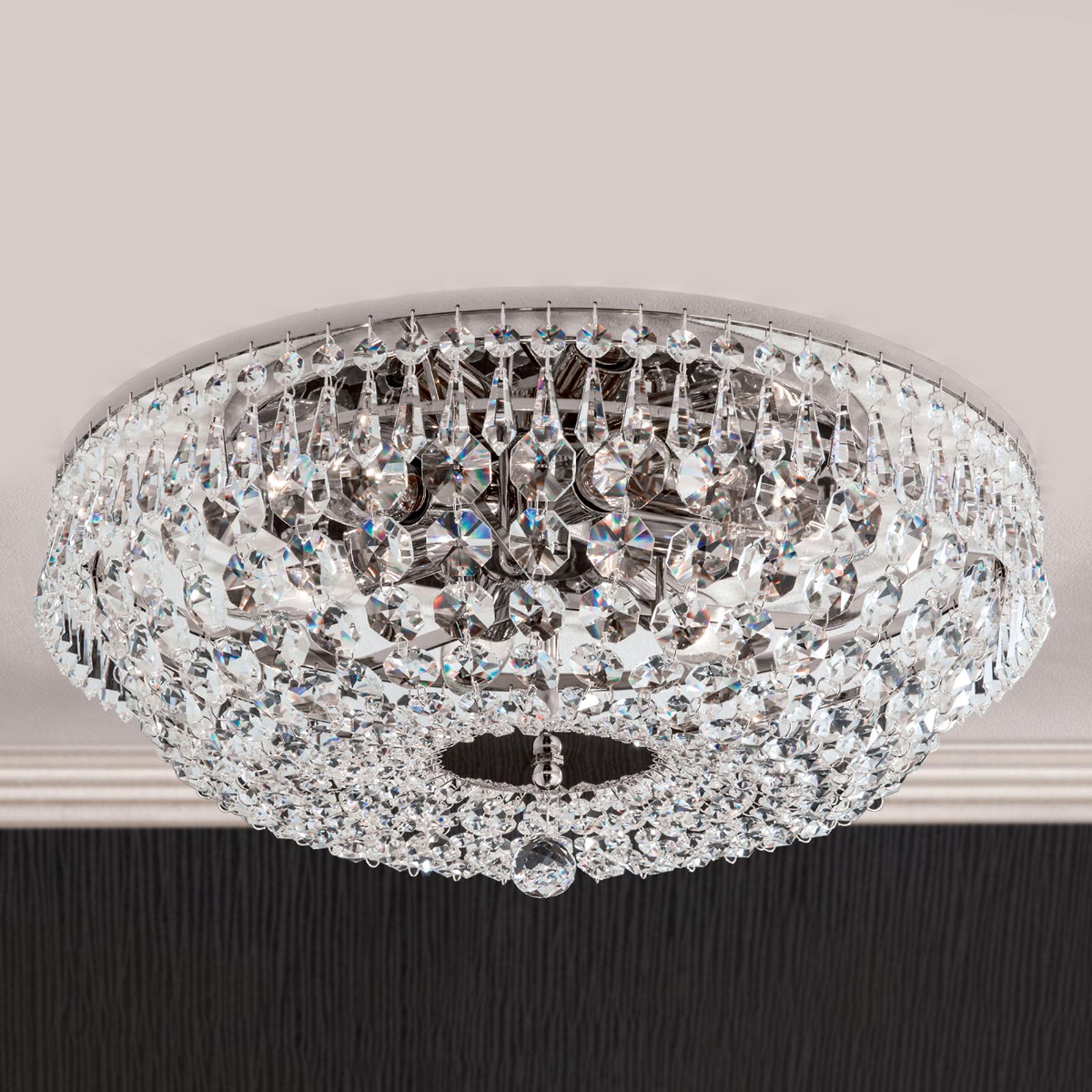 Forkromet SHERATA krystalloftlampe 45 cm