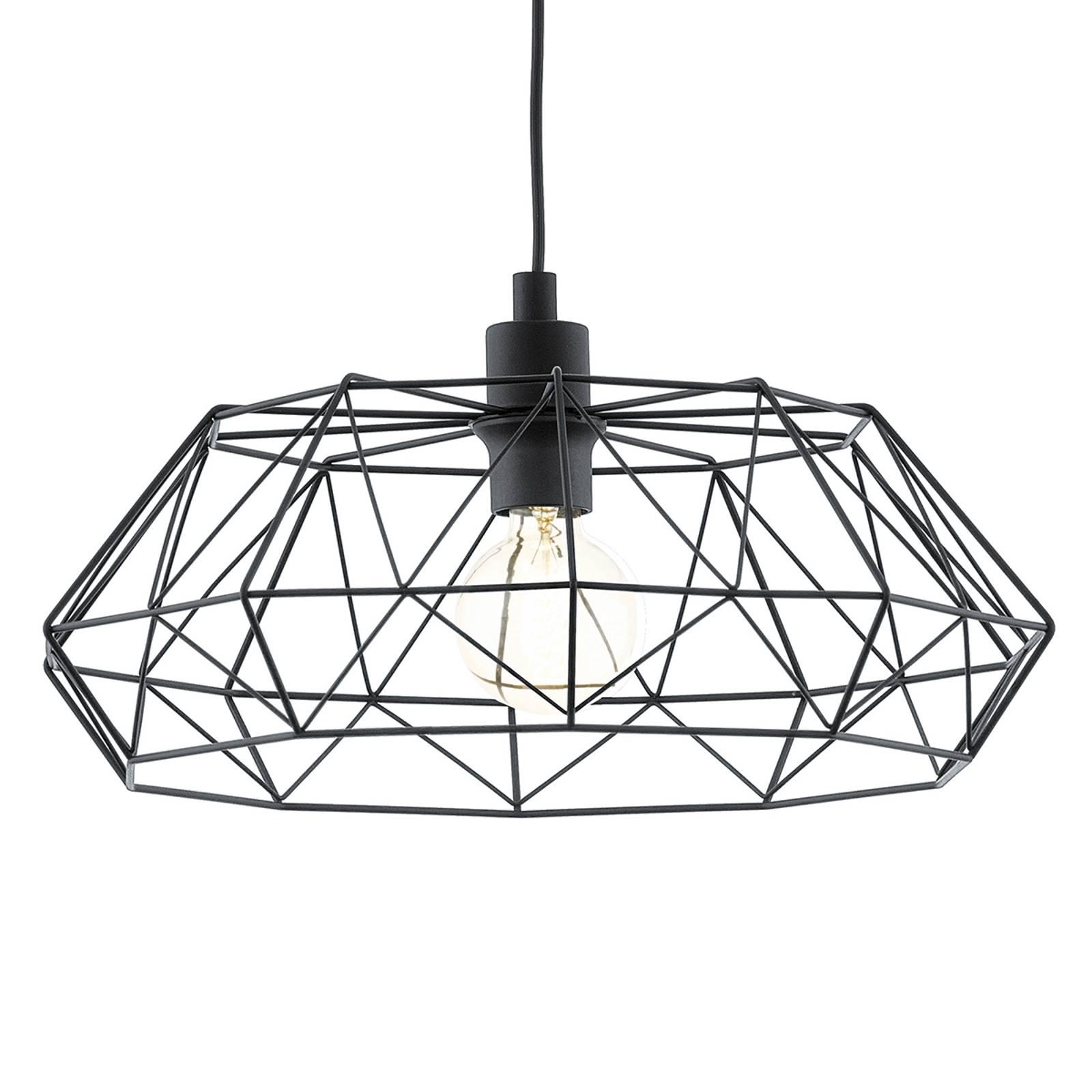 Carlton 2 - zwarte vintage hanglamp