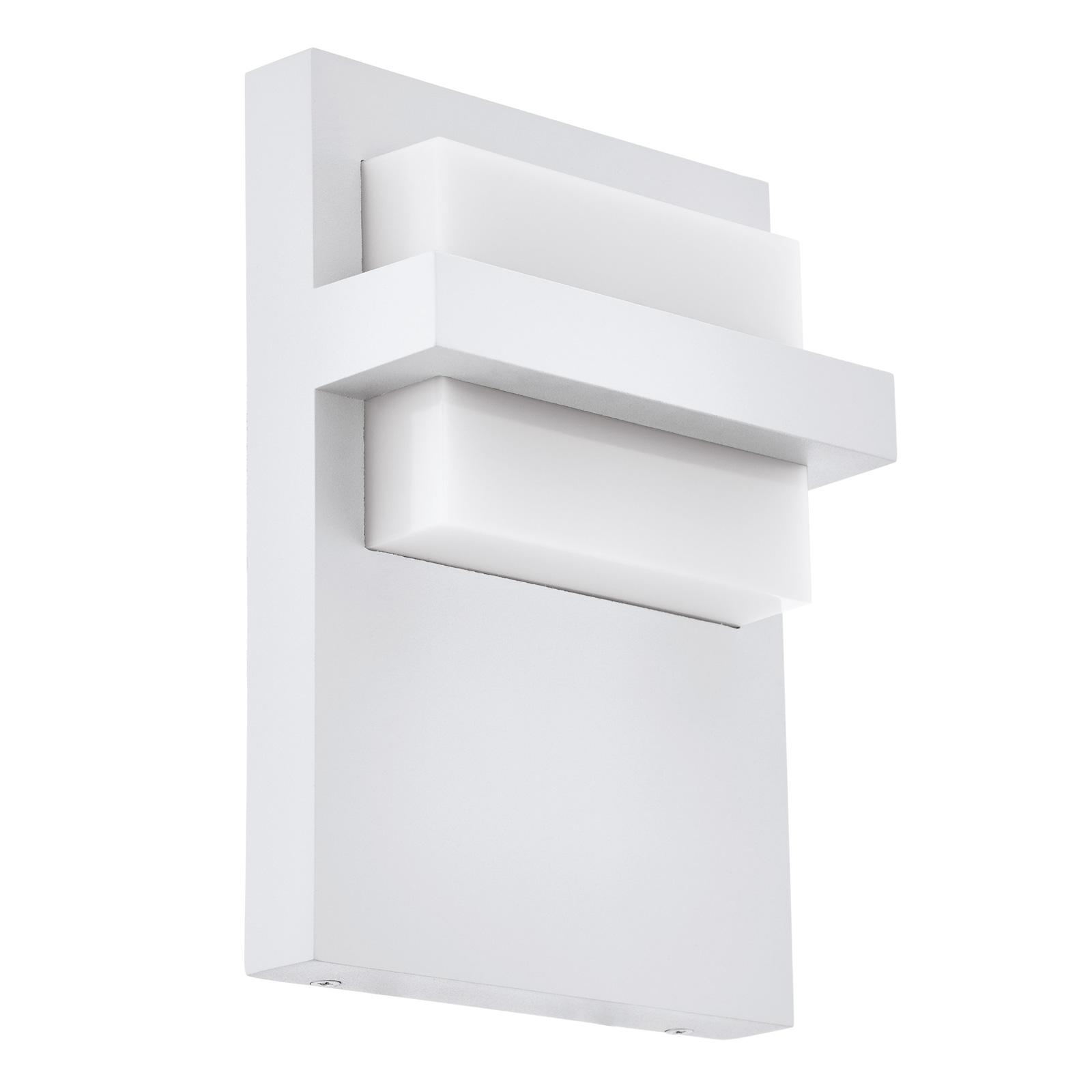LED-Außenwandleuchte Culpina aus Alu, weiß