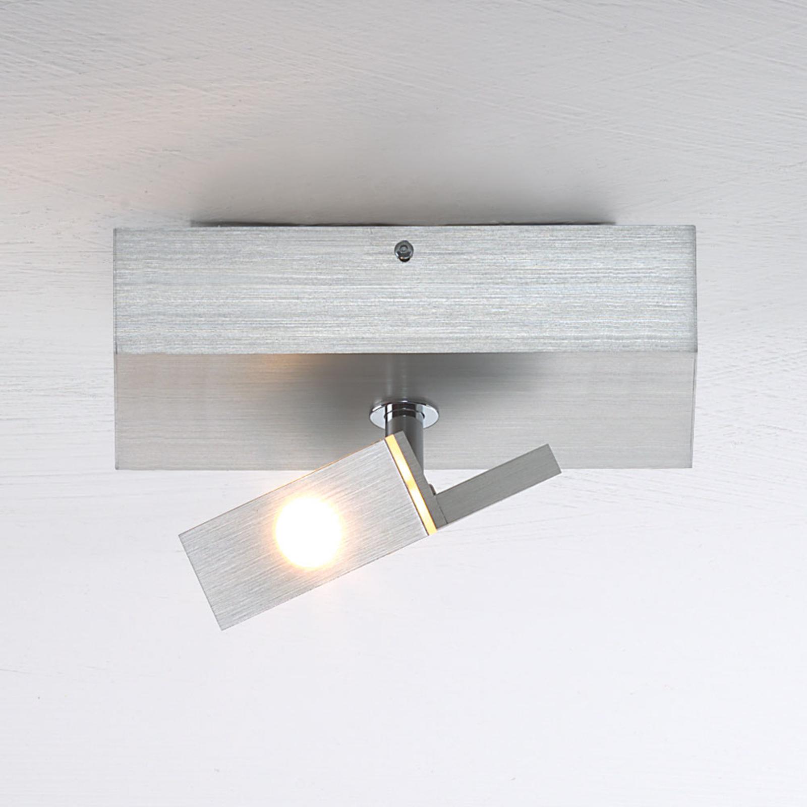 Lille LED-loftspot Elle, kan vippes og dæmpes