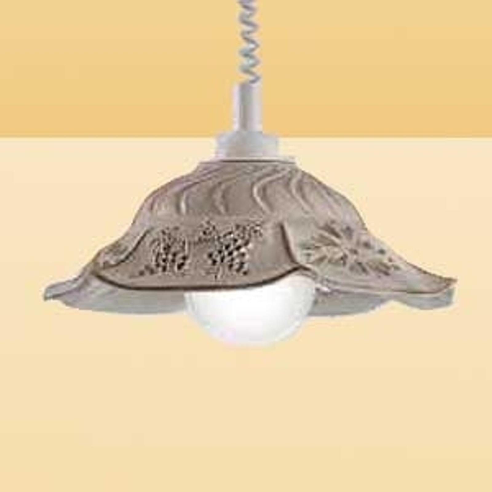 Hængelampe VITELA med rustik udstråling