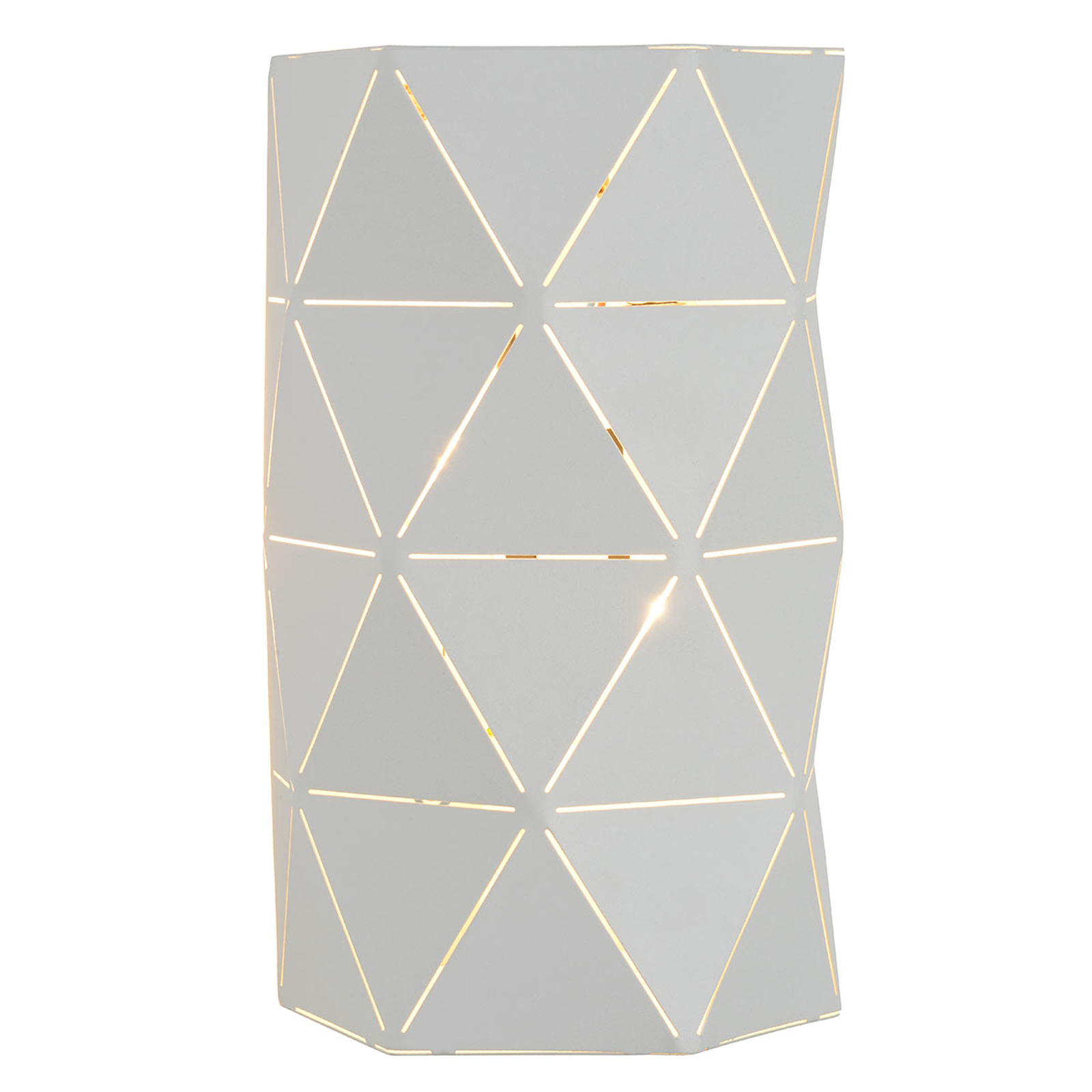 Otona – graficzna lampa ścienna w kolorze białym