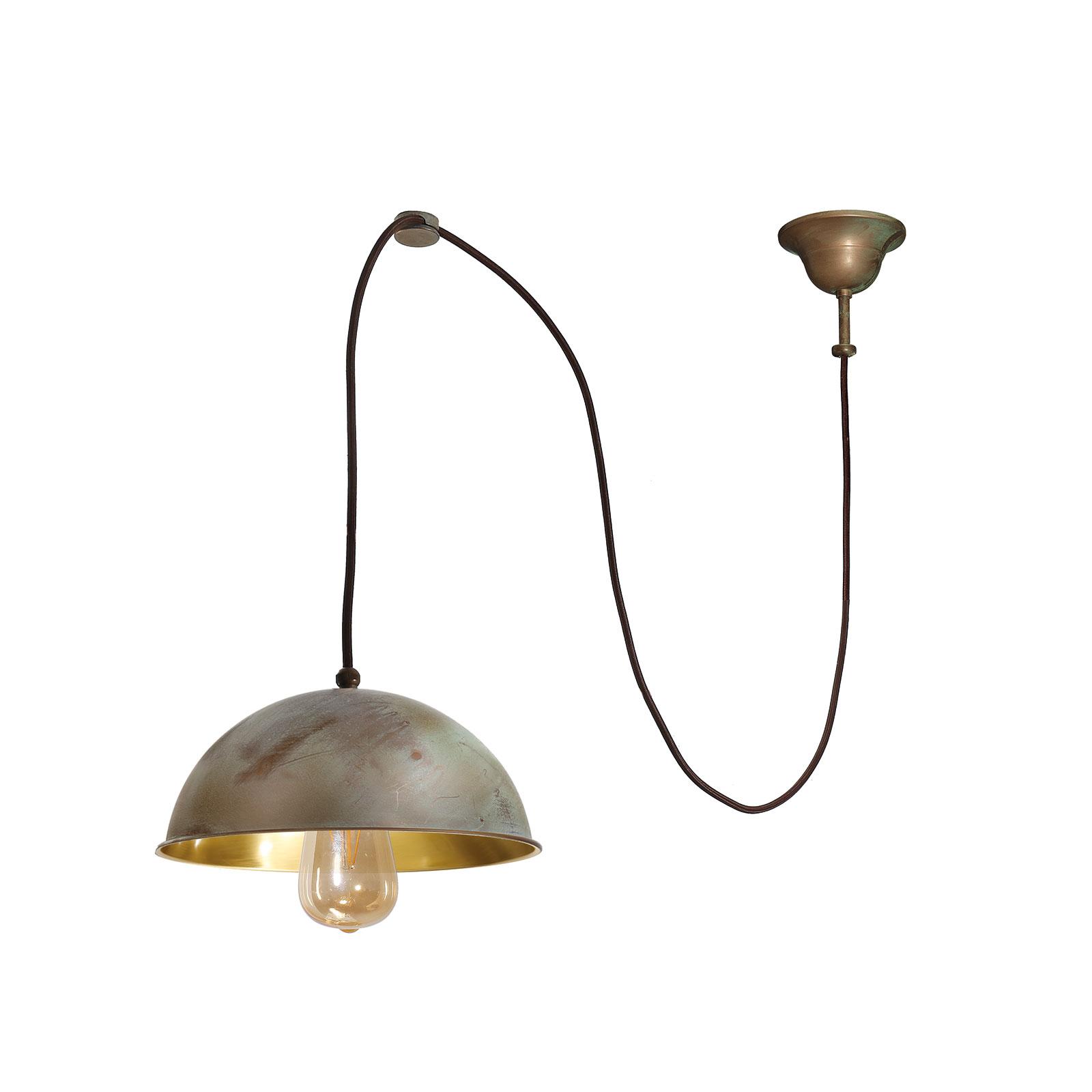 Hanglamp Circle decentraal 1-lamp messing antiek