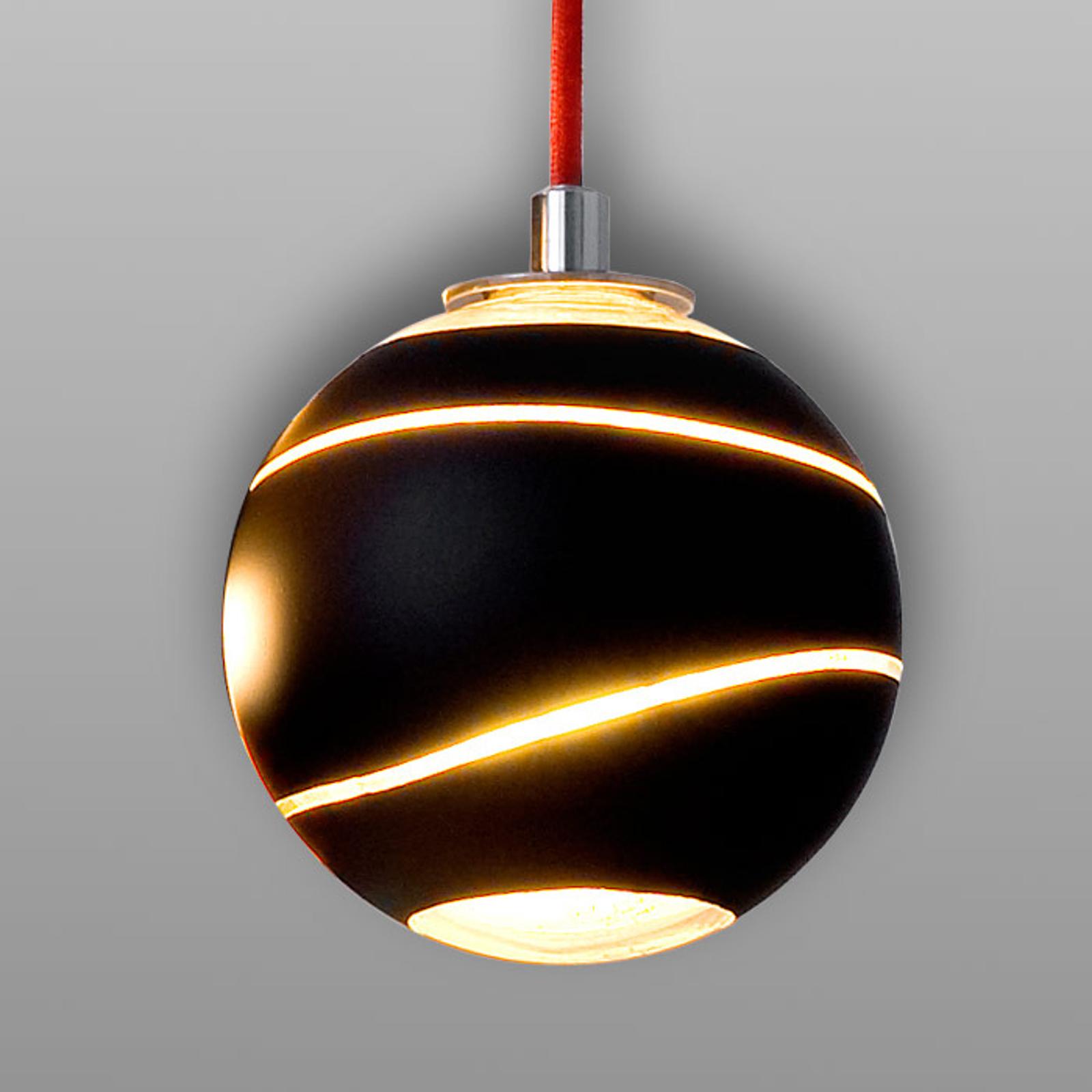 Kleine hanglamp Bond zwart 12 cm