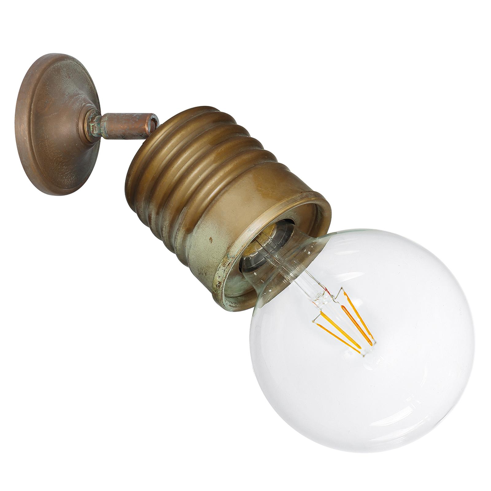 Lampa ścienna Orti z przegubem, mosiądz antyczny