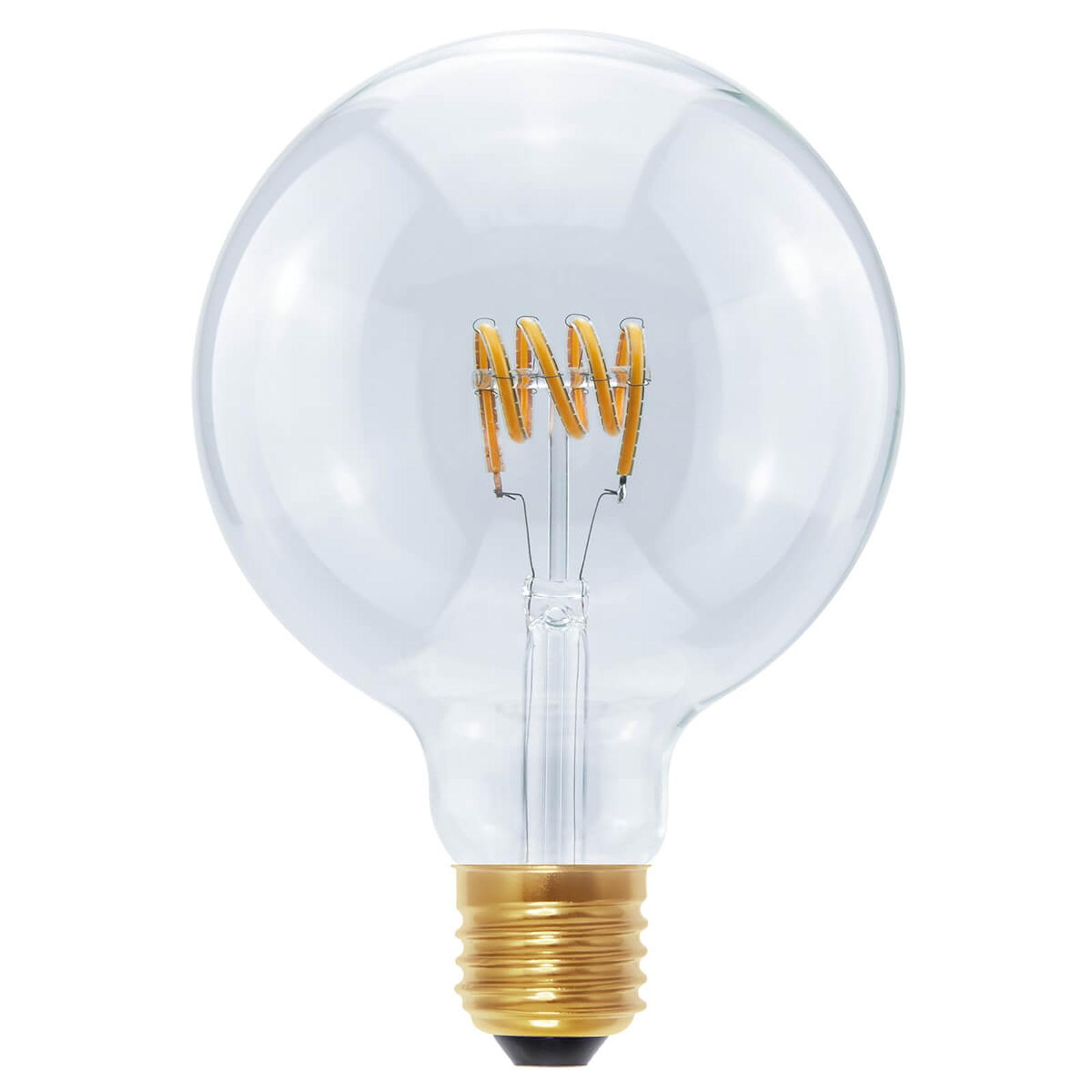 LED-Globe G125 Curved Spirale E27 8W, warmweiß