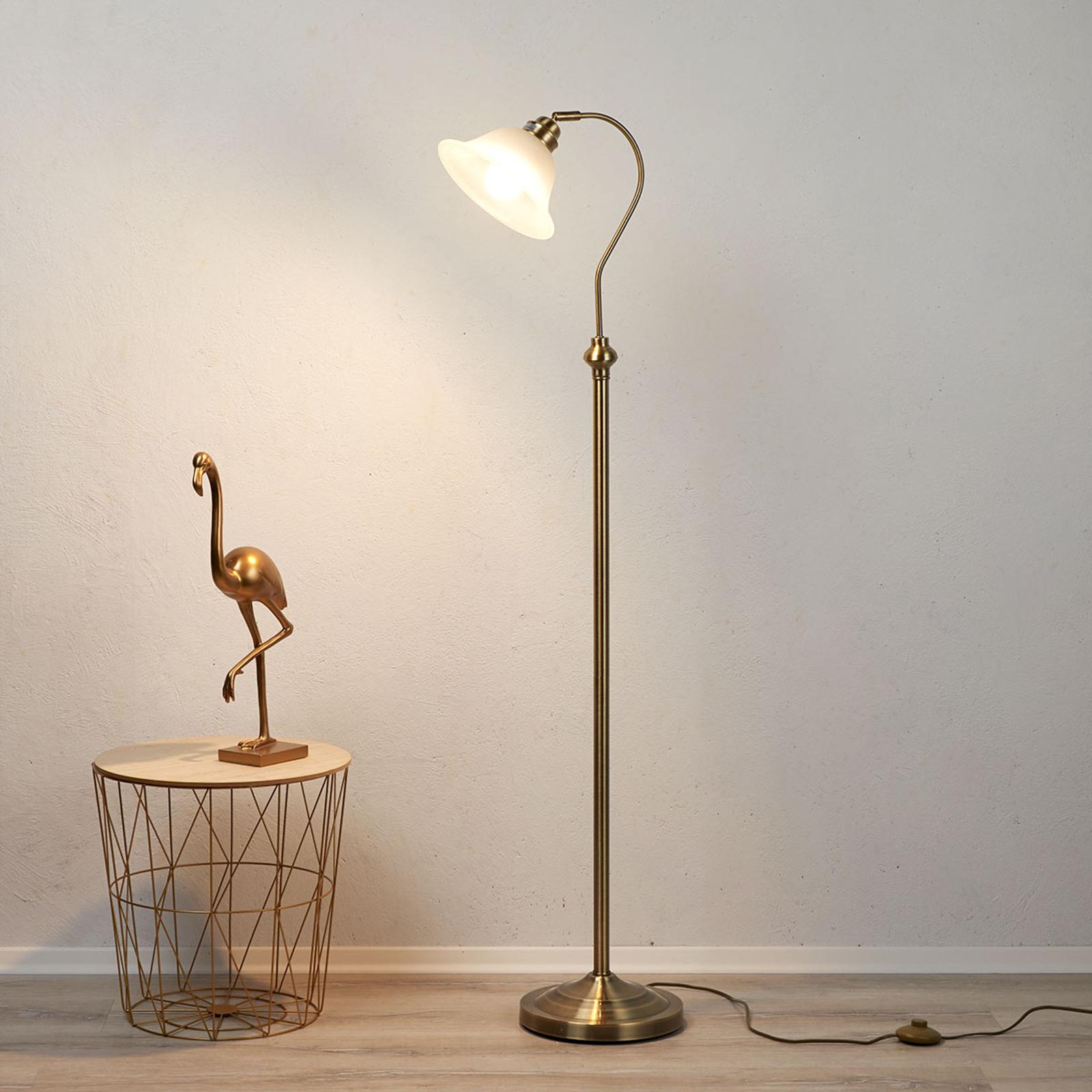 Incantevole lamp pavimento BJANE ottone antico