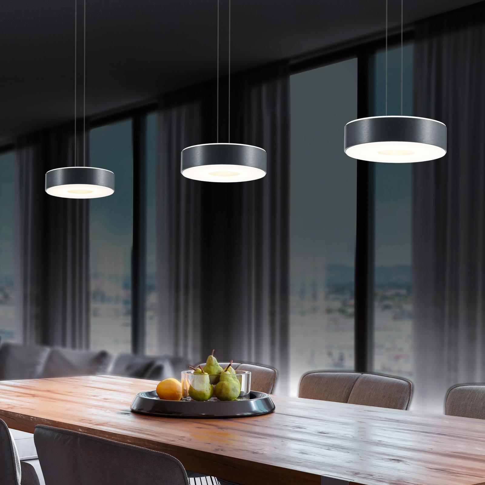 BANKAMP Tondo II hængelampe, 3 lyskilder, antracit